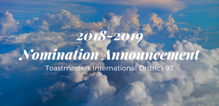 2018-2019 Nomination Announcement